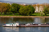 Binnenschfffahrt auf dem Rhein im Frühling - 191202892