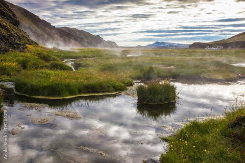 Staande foto Ochtendgloren White nights in Iceland