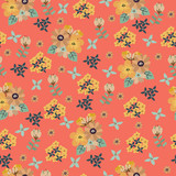 Vintage floral pattern. Seamless vector pattern with cute flowers for textile, packaging, Wallpaper, covers.  - 191210087