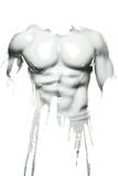 Peinture sur le corps d'un homme musclé - 191211437