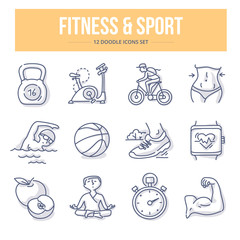 Fitness & Sport Doodle Icons