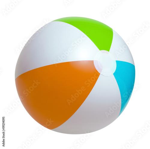 Keuken foto achterwand Bol Beach ball on a white