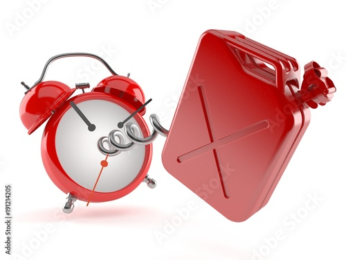 Canister with alarm clock