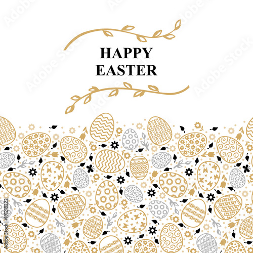 Easter decorative card