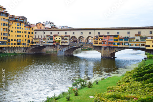 Foto op Plexiglas Florence Ponte Vecchio in Florence in Italy.