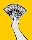Hand holding money bills - 191228052