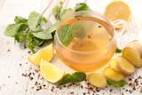 tea mug with lemon, ginger and mint - 191229071