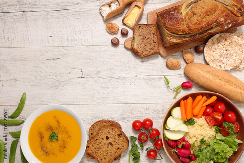 selection of gluten free meal