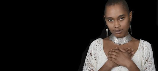 Beautiful Afro Woman On Black