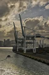 April 30th,2017 Miami USA leaving Miami shipping port.