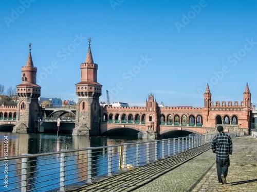 Fotobehang Berlijn Berlin, Oberbaumbrücke