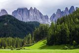 Amazing landscape in Dolomite Alps, near Santa Magdalena, Italy