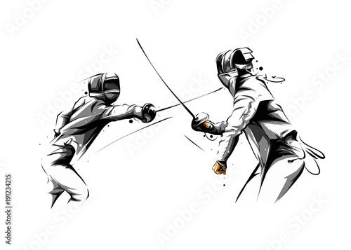 Fototapeta fencing action 6