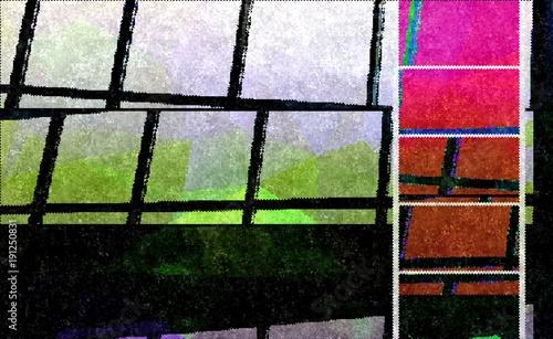 Bright Pixelated Window Pane