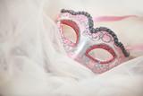 Beautiful Italian carnival mask on white tulle - 191251018