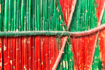 abstract texture background of the bamboo  wall