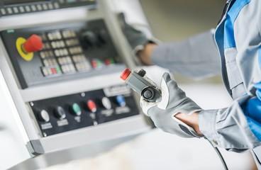 CNC Lathe Control Panel