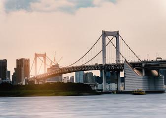Rainbow bridge : Odaiba , Tokyo , Japan