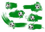 Soccer ball banner of football championship design - 191270438