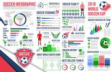 Soccer Sport Infographic Of Football Championship Sticker