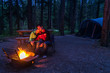 Camp Fire Couple