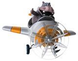 Fun hippo - 3D Illustration - 191288260