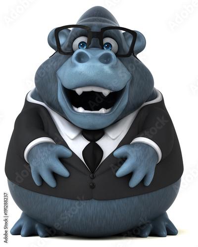 Fotobehang Aap Fun gorilla - 3D Illustration