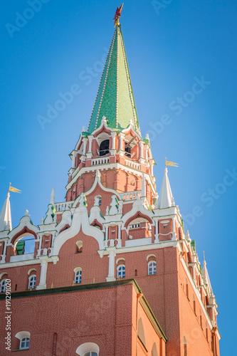 Foto Murales Trinity tower of Moscow Kremlin against blue sky