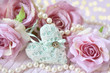 heart,roses and pearls as love symbols