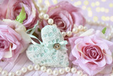heart,roses and pearls as love symbols - 191304469