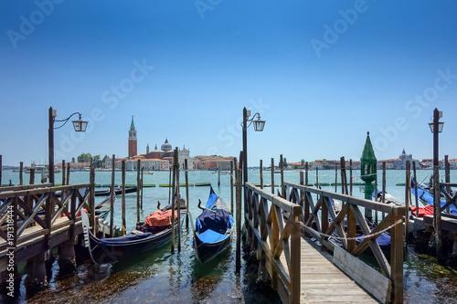 Foto op Canvas Venetie Beautiful view of water street and old buildings in Venice, ITALY