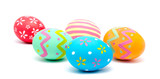 Perfect colorful handmade easter eggs isolated - 191321236