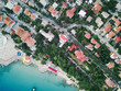 Aerial view on the beach, sea and resort town - 191321410