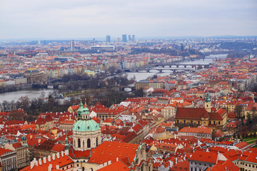 gothic Prague from the old castle