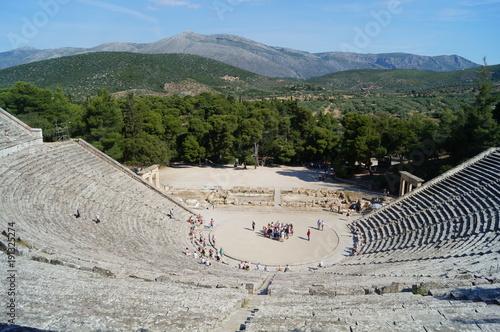 Foto op Plexiglas Blauwe hemel Grèce