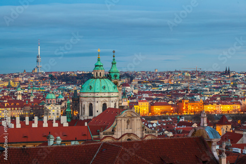 Deurstickers Praag beautiful view of the city of Prague in the evening, Czech Republic