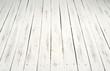 white wooden sltas floor - 191329027