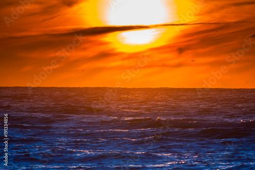 Foto Murales zachodzące słońce