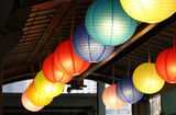 Colorful  lanterns hanging and decoration Chinese New Year festival at Thailand - 191338611
