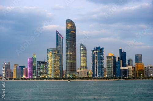 Foto op Canvas Abu Dhabi Skyline Abu Dhabi