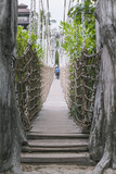 rope bridge path - 191352847