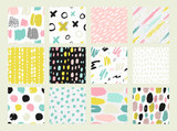 Fototapety Collections of colorful seamless pattern.
