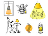 A set of pictures on the subject of lamps. It can be used for the design of the store site, articles, advertising. - 191356048