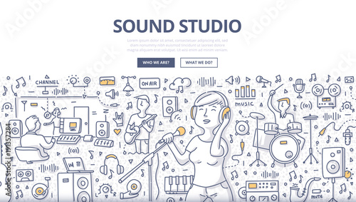 Sound Studio Doodle Concept