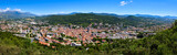 Elevated panoramic view of the city of Gap in the Hautes-Alpes in Summer. Southern French Alps, France - 191364230