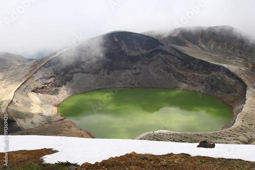 Fotobehang Olijf Zao big hot spring