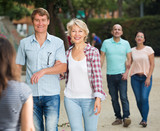 mature males and females walking on holiday - 191377022