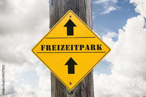 Tuinposter Amusementspark Schild 271 - Freizeitpark