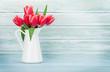 Quadro Red tulip flowers bouquet