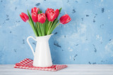 Red tulip flowers bouquet - 191378618
